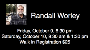 Randall Worley will be speaking at Unified... We are so honored to have Randall Worley with us.